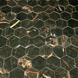 "Laurants Brown 3"" Hex Mosaic"